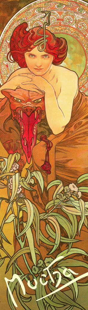 Záložka Alfons Mucha – Smaragd