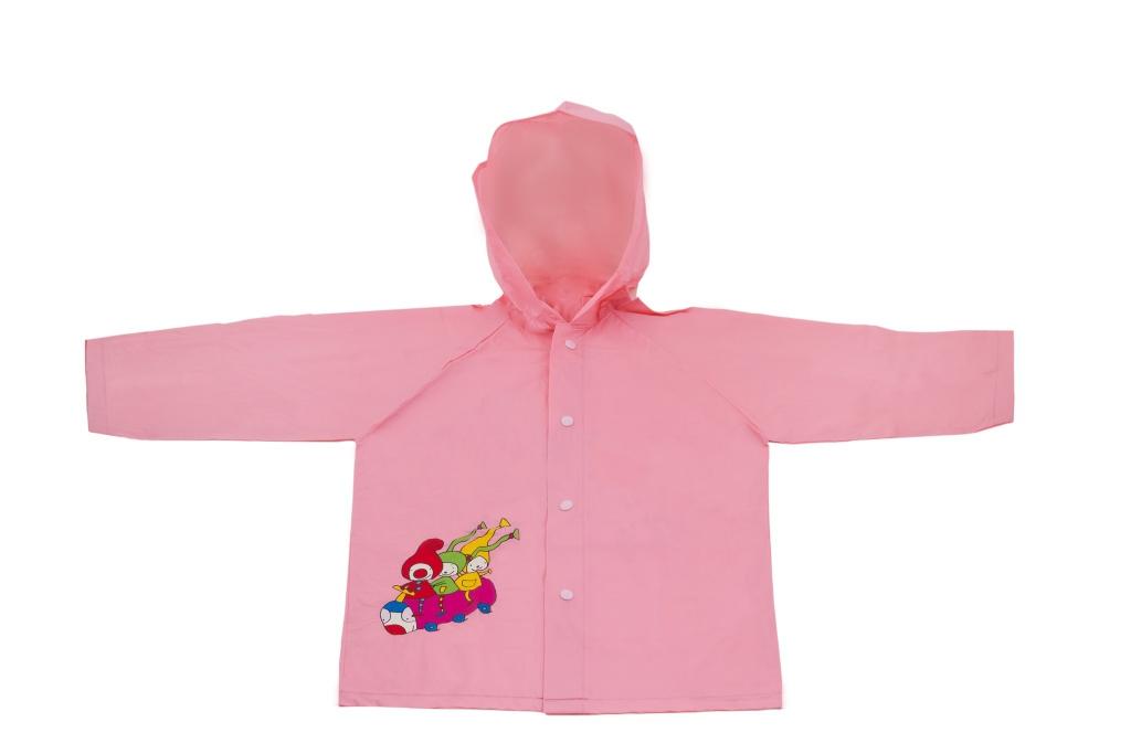 Detský pršiplášť Kúzelná škôlka, ružový, 5-6 rokov