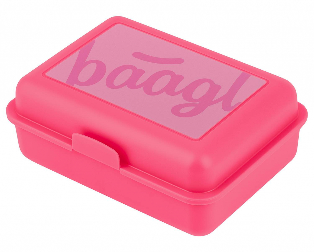 BAAGL Box na desiatu Logo ružový