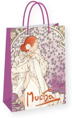 Dárková taška Alfons Mucha – La Dame, střední