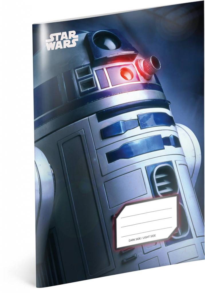 Školní sešit Star Wars – R2-D2, A5, 40 listů, čtverečkovaný