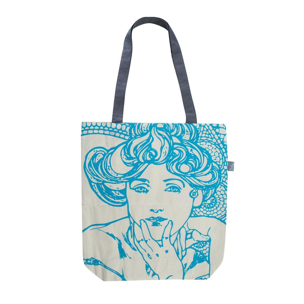 Plátěná taška Alfons Mucha – Topaz, Fresh Collection