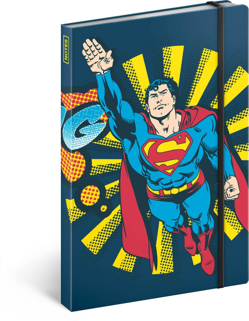 Notes Superman – Bang, linkovaný, 13 × 21 cm