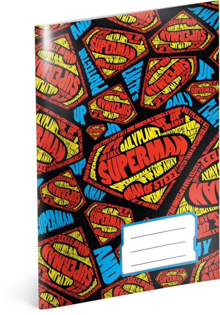 Školský zošit Superman – Shapes, A5, 40 listov, čistý