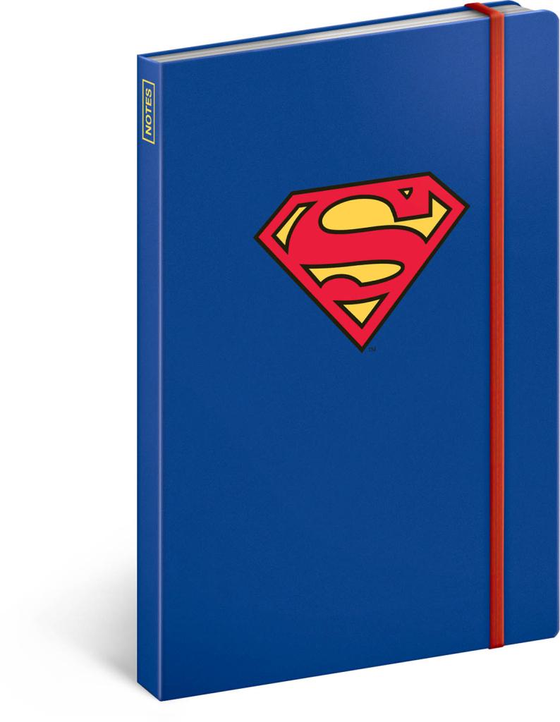 Notes Superman – Symbol, linkovaný, 13 × 21 cm