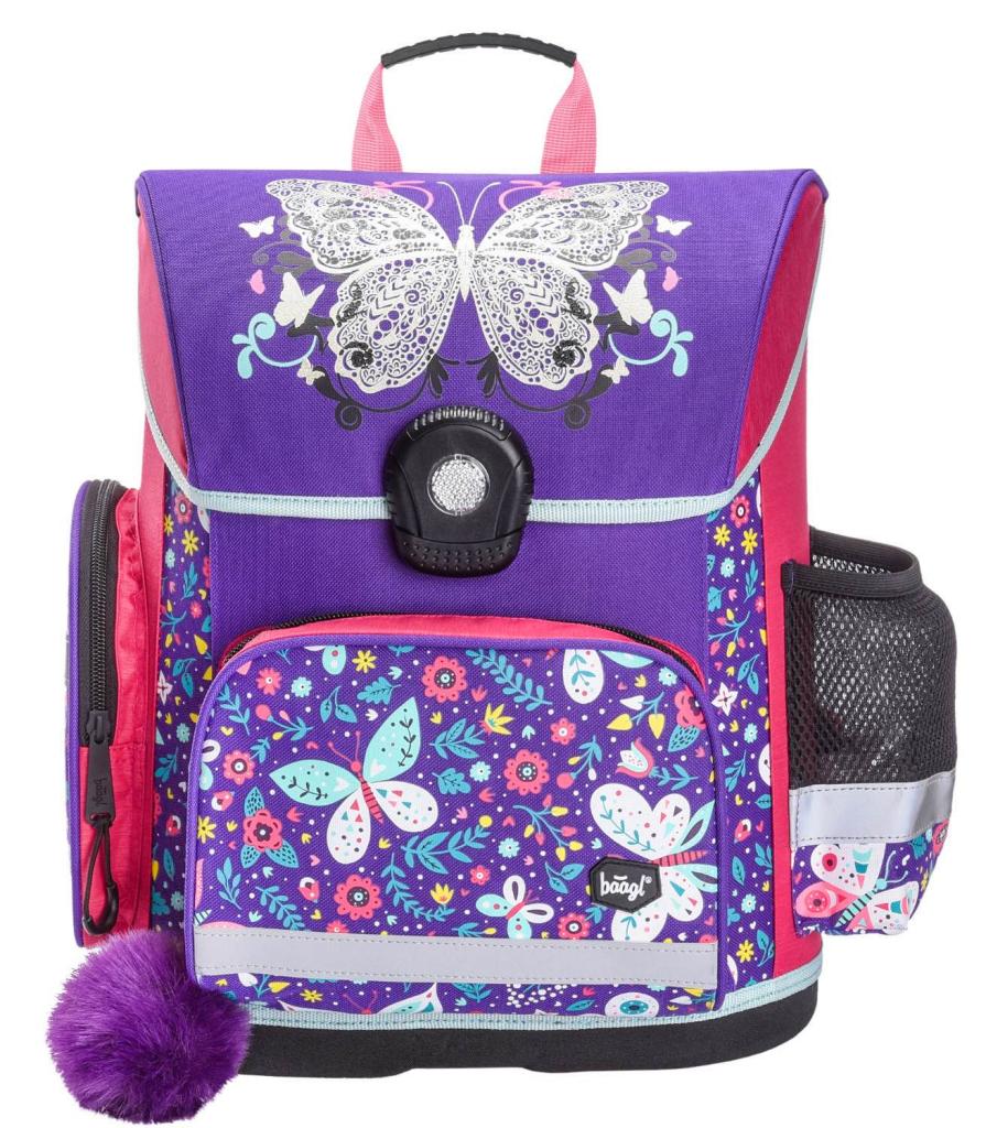 BAAGL Školní aktovka Motýl
