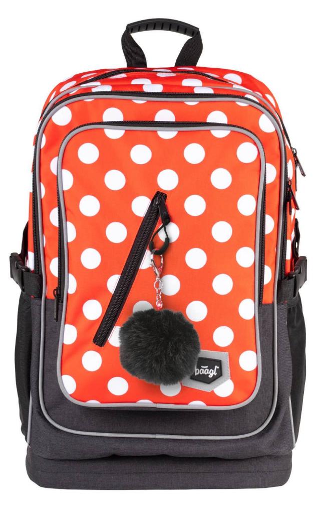 BAAGL Školní batoh Cubic Puntíky
