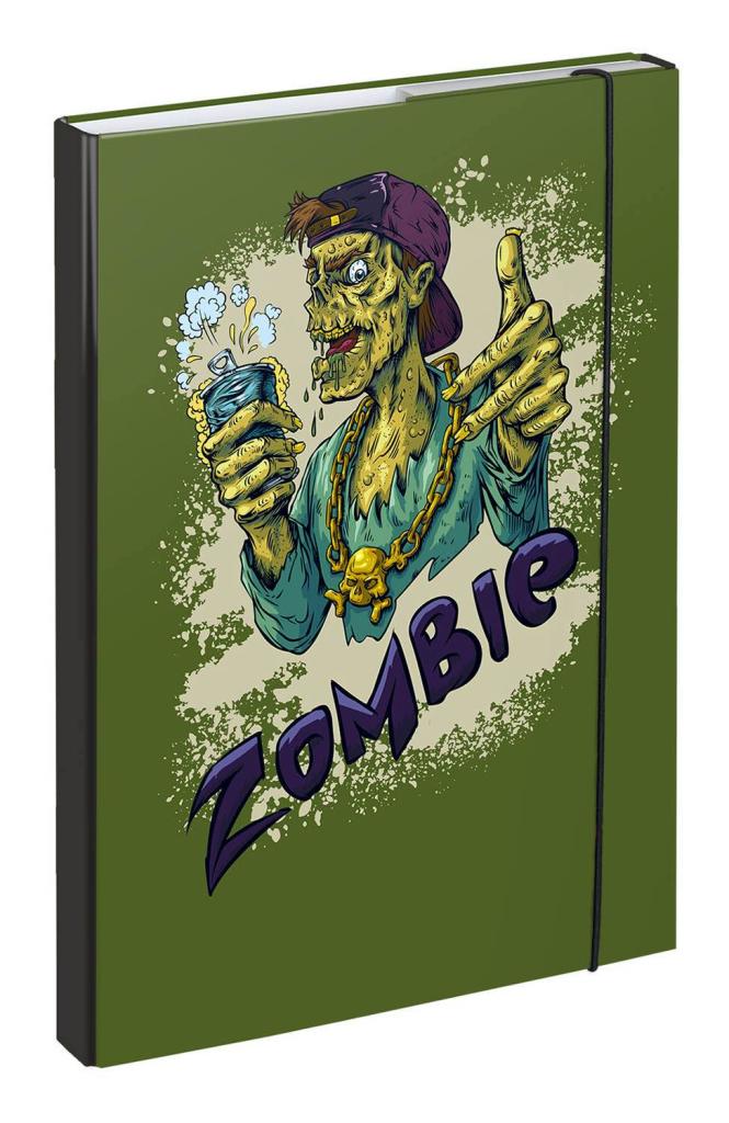 BAAGL Dosky na školské zošity A4 Zombie