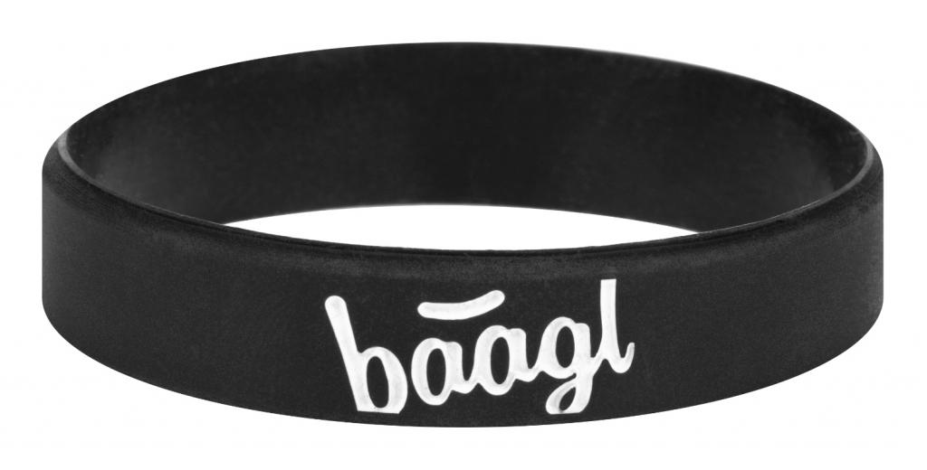 BAAGL Svietiaci náramok Logo čierny