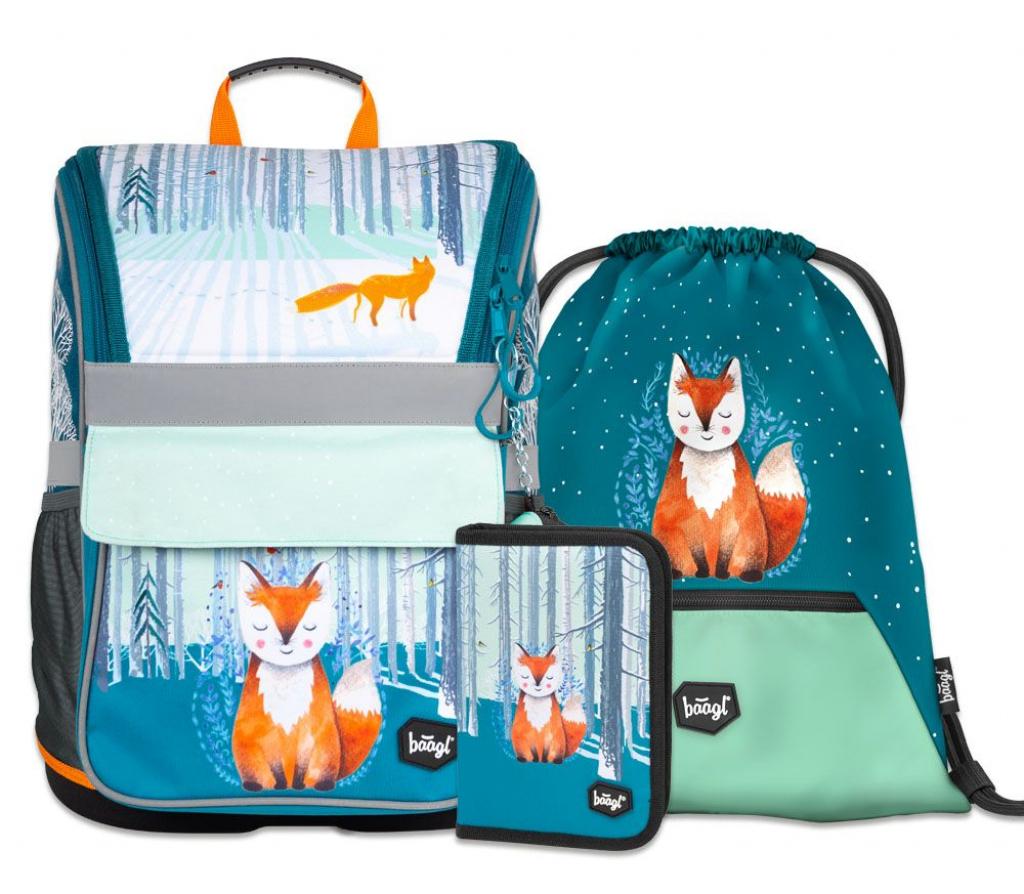 BAAGL SET 3 Foxie: aktovka, penál, sáček