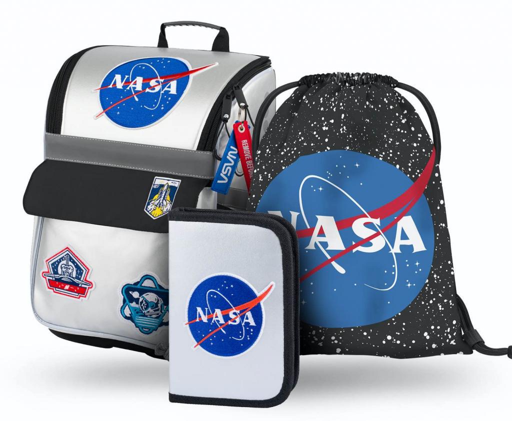 BAAGL SET 3 NASA: aktovka, penál, sáček