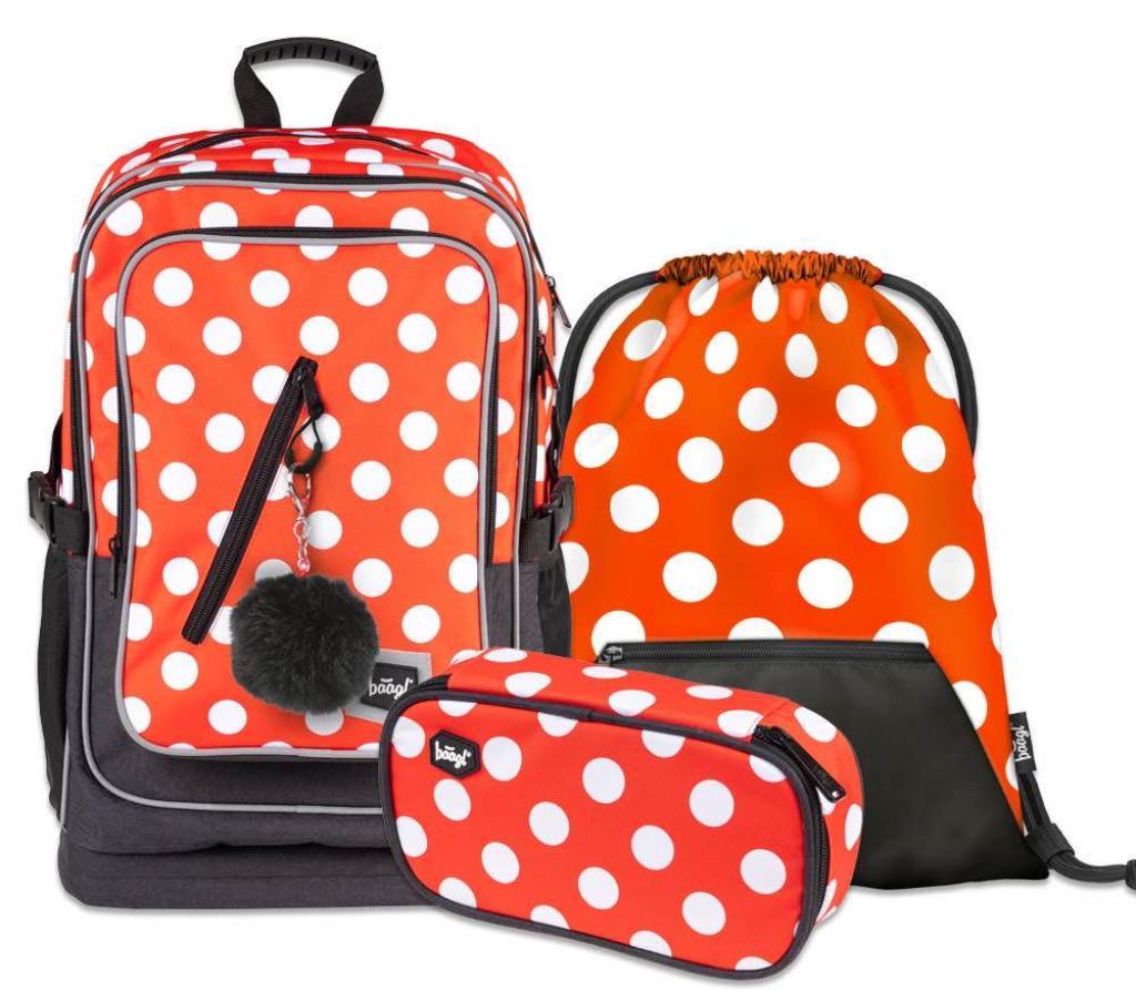 BAAGL SET 3 Cubic Puntíky: batoh, penál, sáček