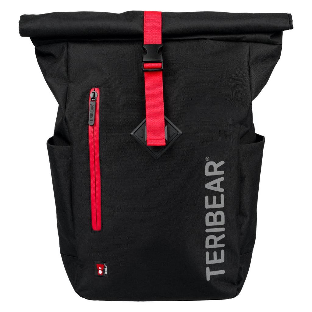 BAAGL Zavinovací batoh TERIBEAR černý
